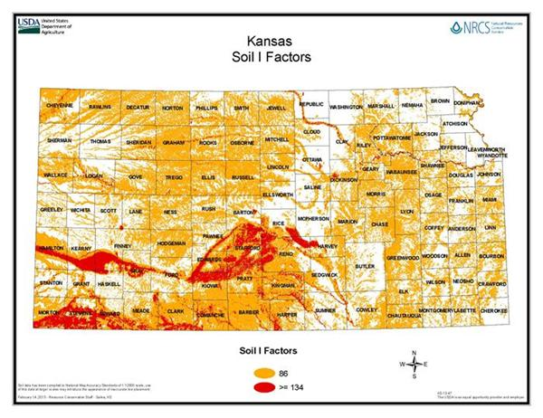 Kansas Soil I Factor Map