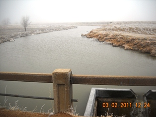 The v-notch weir above HorseThief Reservoir allows operators to accurately measure small inflows which are important in determining releases from the reservoir to sustain downstream water uses.